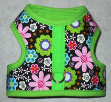 Mr. Wags Custom Dachshund Walking Harness Vest - May Flowers