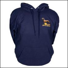 III Dachshunds NAVY Ankle Biter Ale Logo Hoodie Sweatshirt