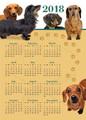 Magnetic Dachshund Calendar