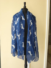 Viscose Cotton Dachshund Print Scarf, Shawl, Wrap, Couch Chair Accent or Table Runner.