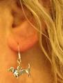 Doxie Dog Dachshund Dangle Earrings - So Cute!