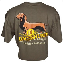 III Dachshunds MILITARY GREEN Logo Tee Shirt