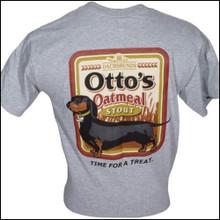 III Dachshunds Ottos Oatmeal Stout GREY Tee Shirt