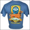 III Dachshunds Show Dog Vanilla Stout INDIGO BLUE Tee Shirt
