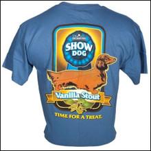 III Dachshunds Show Dog Vanilla Stout INDIGO BLUE Tee Shirt