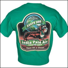 III Dachshunds India Pale Ale KELLY GREEN Tee Shirt