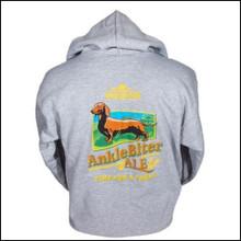 III Dachshunds Gray Ankle Biter Ale Logo Hoodie Sweatshirt