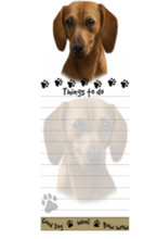 RED Dachshund Paw Things To Do List Pad Notepad
