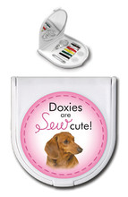 Doxies are Sew Cute Compact Sewing Kit or Small Mirror