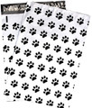 Cute 10 x 13 inch Paw Print Flat Poly Mailers - Individually Sold