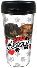 Doxie Lovers Travel Cup Mug - I Love Dachshunds