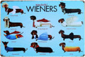 Wonderful Wieners Dachshund Dog Tin Metal Sign