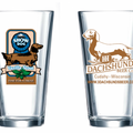 III Dachshunds Pint Glass - Show Dog Vanilla Stout Longhair Red Dachshund - 3rd in Series