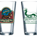 III Dachshunds Pint Glass - IPA India Pale Ale Earth Dog Wirehair Dachshund - 4th in Series
