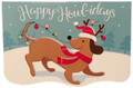 Economy Happy Howl-idays Christmas Holiday Greeting Card