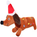 6.5 inch Merry & Bright™ Holiday Christmas Lights Wiener Dachshund Dog Plush Toy w Squeaker