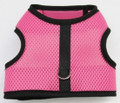 Mr. Wags Custom Dachshund Walking Harness Vest - Pink Mesh