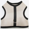 Mr. Wags Custom Dachshund Walking Harness Vest - Beige Mesh