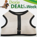 FREE Shipping - Save $2! - BEIGE MESH - Custom Dachshund Walking Harness Vest