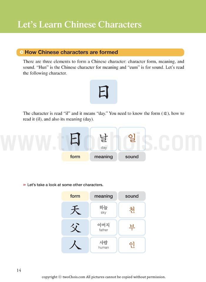 Useful Chinese Characters For Learners Of Korean Twochois