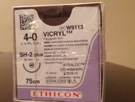 Vicryl Suture - 20mm 75cm  4.0 USP x 12 (W9113)