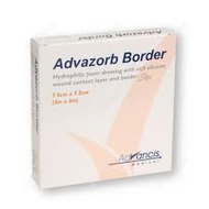 Advazorb Border Foam Dressings 7.5cm x 7.5cm (x10)