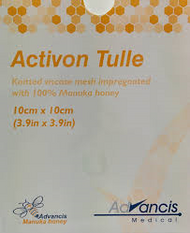 Activon Tulle Manuka Honey dressings 10cm x 10cm (x5)