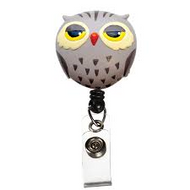 Owl - Deluxe Retractable ID Holder / Key tag