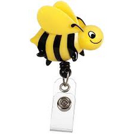 Bee - Deluxe Retractable ID Holder / Key tag