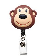 Monkey - Deluxe Retractable ID Holder / Key tag