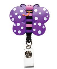 Butterfly - Deluxe Retractable ID Holder / Key tag