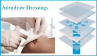 Advadraw absorbent wound dressing 10cm x 10cm (x10)