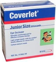 Coverlet Eye Occlusor Junior Size - 20 Pads