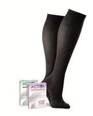 Activa Class 2 Unisex Support Socks 18 - 24mmHg - BLACK - SMALL