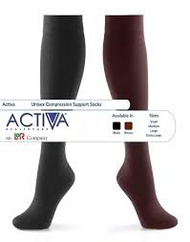 Activa Class 2 Unisex Support Socks 18 - 24mmHg - BROWN - SMALL