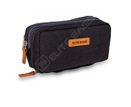 Elite Diabetic Cool Bag - Various Compartments for pens and equipment (Rich Black)
