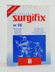 Surgifix Elastic Tubular Netting 25m. Size: 8 (Ideal for Adult Torso, Shoulder)