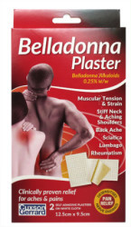 Belladonna Plaster 12.5cm x 9.5cm (Pack of 2)