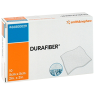 DuraFiber Highly Absorbent Gelling Fibre Dressing 5cm x 5cm (x10)