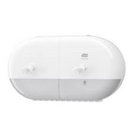 Tork SmartOne Twin Mini Toilet Roll Dispenser - White (Ref: 682000)