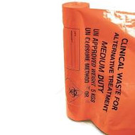 Clinical Waste Bags (Orange) - Medium Duty Sacks - 15in x 28in x 38in (x25)