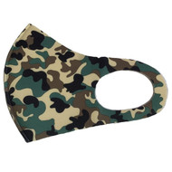 Camouflage design Reusable Face Mask - Green (x1)