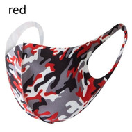 Camouflage design Reusable Face Mask - Red (x1)