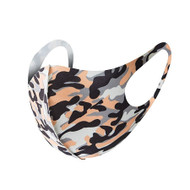 Camouflage design Reusable Face Mask - Orange (x1)