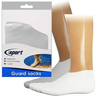 Waterproof Guard Socks - ideal for swimming / foot conditions - Large (1 Pair)