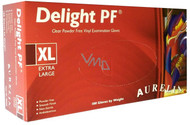 Aurelia Delight Clear Powder Free Vinyl Examination Gloves - Extra Large (x100)
