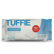 Tuffie Large Detergent Multi-Surface Cleaning Wipes x 100 Wipes (x12)