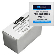 Alcohol Pre-Injection Swab Wipe (70% Isopropyl Alcohol) x 100
