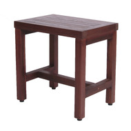 "DecoTeak Eleganto 18"" Teak Shower Bench- DT173"