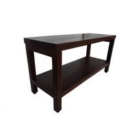 """Eleganto™ 35""""  Teak Shower Bench With Shelf Backless - DT117"""